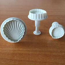 3Pcs Popular Shell Fondant Mould Chocolate Sugar Cake Cookie Die Cutter Mold