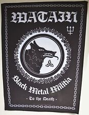 WATAIN - Black Metal Militia - Backpatch - 39 cm high / 39 cm hoch - 163644