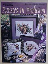 #) LEISURE ARTS fascicule grilles point de croix PANSIES IN PROFUSION PENSEES