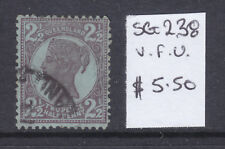 Qld: 2 1/2d Brown Purple On Blue Qv Sg 238 Fine Used