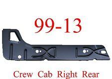 99 13 Right Rear Crew Cab Inner Rocker Panel, Chevy GMC Truck, Silverado Sierra