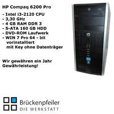 HP COMPAQ 6200 Pro Intel Core i3-2120 4 GB RAM DDR3 160 GB HDD WIN 7 Pro mit Key