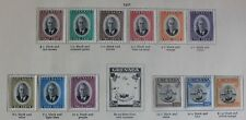 Grenada KGVI 1951 Definitives part set to $1.50 (12) SG172-183 Mounted Mint