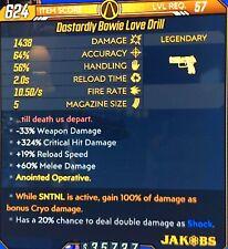 God Roll • Love Drill • SNTNL • 100% Zane Bonus DAMAGE • Xbox• Borderlands 3
