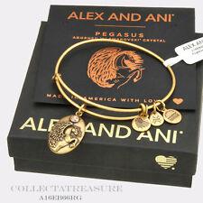 Authentic Alex and Ani Pegasus Rafaelian Gold Charm Bangle