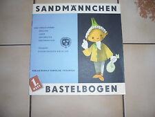 DDR SANDMÄNNCHEN-BASTELBOGEN   1.HEFT MÄDCHEN;JUNGE;GROSSMUTTER,SANDMÄNNCHEN
