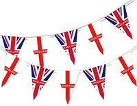 Happy St George Day England in British National - Bunting Banner 15 flags