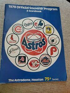 1978 HOUSTON ASTROS PROGRAM & SCOREBOOK - THE ASTRODOME, HOUSTON