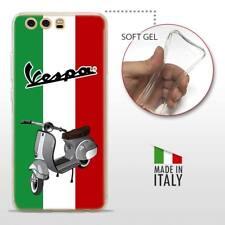 Huawei P10 TPU CASE COVER PROTETTIVA TRASPARENTE VINTAGE Vespa Bandiera Italiana