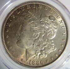 1886 $1  Morgan Silver Dollar BU PCGS MS64 Toned   #80886