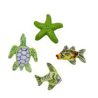 Calamite in ceramica Vietri Artigianale 4 animali marini stella tartaruga pesci
