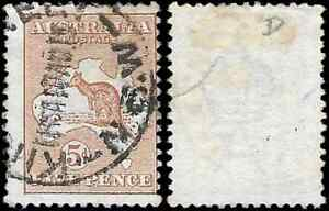 Australia, Selection of 6 Different USED ROO Stamps 1913 /15, Wmks 2,5 & 6 Used