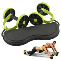 Body Abdominal Wheel Push Up Roller Core Power Roll Dual Abs System Exerciser