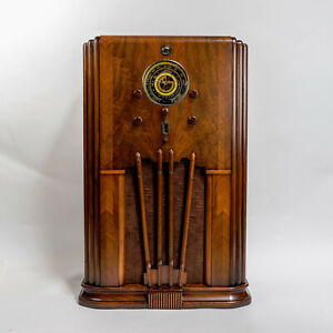 BEAUTIFUL 1936 SPARTON 987 CONSOLE - 3 BANDS - W/BLUETOOTH - COMPLETELY RESTORED