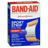 Band-Aid Sport Strip Bandages Extra Wide 30 each