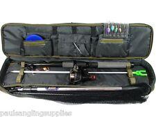 12 Ft Fishing Spinning Set Kit Rod Reel Spinners Bait Box Net Tackle Bag Travel