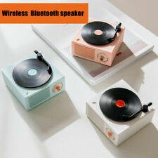 Retro Record Player Wireless Portable Bluetooth Speaker Loud Stereo Sound 3Color