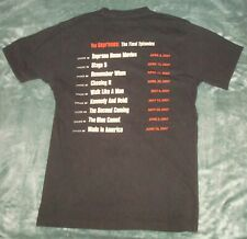 Vtg 2007 The Sopranos Final Episodes T Shirt Medium Hbo Black 2 Sided Tv Show