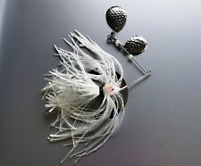 1/4 OZ SPINNER BAIT WITH HAMMERED NICKLE COLORADO BLADES-WHITE SKIRT