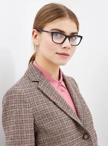 Brand New Prada Authentic Women Eyeglasses Frame PR 10VV 1AB-1O1 Italy Rx Case S