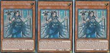 YUGIOH 3 X PRIESTESS WITH EYES OF BLUE LCKC-EN016  LEGENDARY COLLECTION KAIBA