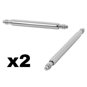 2Pcs Watch Spring Bars Pins Bracelet Steel - Universal type - Sizes 8mm - 24mm