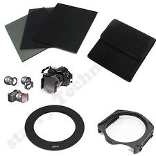 FULL ND2 4 8 filter+ Pouch Case+ 62mm Adapter Ring+Holder for Cokin P Series