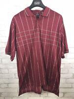 NWT IZOD Golf Mens 2XL Cranberry Plaid Double Mercerized Cotton Polo Shirt