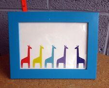 DAYGLO GIRAFFE multi-color rainbow pride print w/ frame Minimalism baby's room