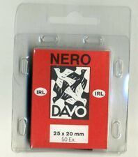 2 Pack Davo Nero Stamp Mounts 25mm X 20mm (fit Ireland Definitive) Pack of 50