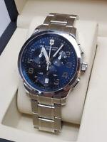 *BRAND NEW* Victorinox Swiss Army Men's Chrono Alliance Silver Tone Watch 241310