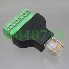 1pce Connector RJ45 8P8C male plug to AV Terminal Plug for ADSL CCTV Radio Ham
