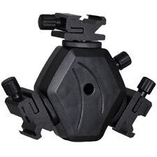 Universal Hot shoe Holder For 3 Flashgun TRIPLE Speedlight can use umbrella
