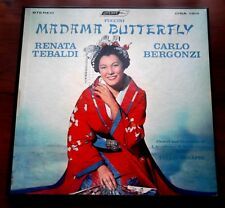Puccini   Madama Butterfly  1952  Tebaldi   Bergonzi  Serafin  3LP Box Set  VG++