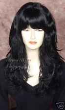 Long Loose Wavy Wig in Black /100% Japanese Fibre Brilliant Quality fr Fumi Wigs