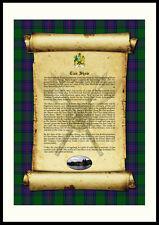 CLAN SHAW - Clan History, Tartan, Crest, Castle & Motto MOUNTED PRESENTATION