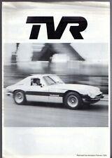 TVR TAIMAR fino a 1980 eseguito su 95 benzina senza piombo intank