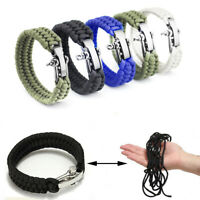 Buckle Outdoor Tools Paracord Survival Bracelet Rope Wristband Braided Cord
