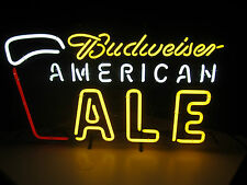Budweiser American Ale Neon Beer Sign bar Man Cave Bud Light Brewery Game Room
