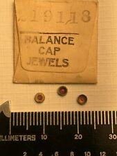 ⚙️Elgin 18s Pocket watch movement part# 2191- One Balance Cap Upper Jewel - NOS