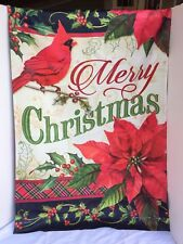 Carson Home Accents Merry Christmas Greeting Trends Classic Large Flag NEW