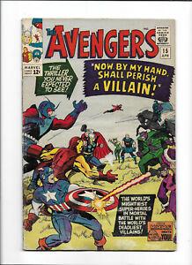 "AVENGERS #15 [1965 GD] ""NOW, BY MY HAND, SHALL PERISH A VILLAIN!"""