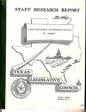 Staff Research Report to the Long Distance Telephone Rates in Texas 1950 BK