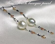 AAA grade 7~7.5mm Akoya silver pearl earrings