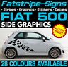 FIAT 500 GRAPHICS STRIPES STICKERS DECALS CAR VINYL ABARTH 1.4 16v 1.2 LOUNGE C