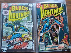 4 black lightning comics 1,2,9,nm