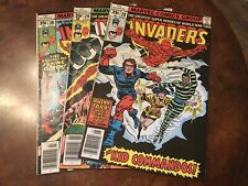 Lot of 3 Marvel The Invaders #28 29 30 comic books bronze age