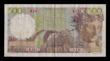 B-D-M Argelia Algeria 500 Francs 1954 Pick 106a BC+ F+