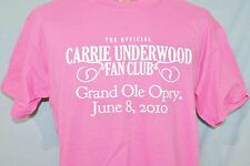 Carrie Underwood 2010 Fan Club Grand Ole Opry Pink T-Shirt M Country Music