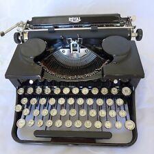SUPER RARE ROYAL MODEL P TYPEWRITER WITH VOGUE ART DECCO TYPE MFG 1930 #289091